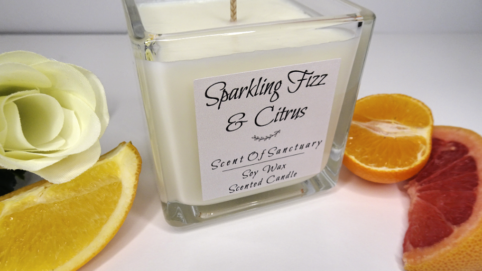 Sparkling Fizz & Citrus Scented Candle - SMALL