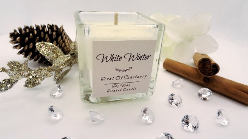 White Winter Scented Candle - SMALL