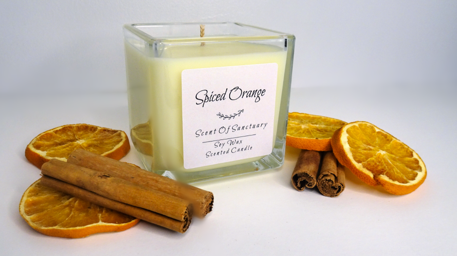 Spiced Orange Scented Candle Large
