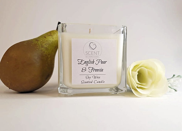 English Pear & Freesia Scented Candle - Small