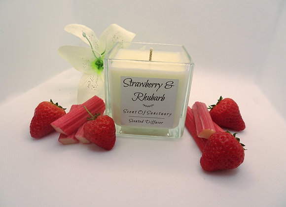 Strawberry & Rhubarb Scented Candle - LARGE