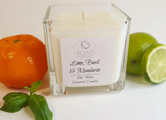 Lime, Basil & Mandarin Scented Candle - Small
