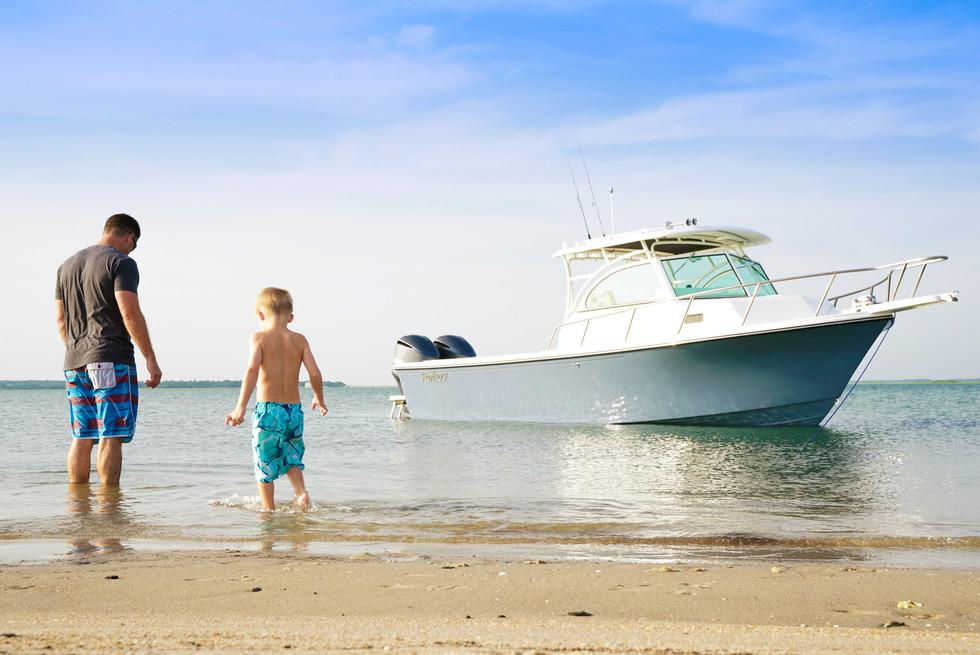 Parker Boats Lifestyle 28WA father son.j