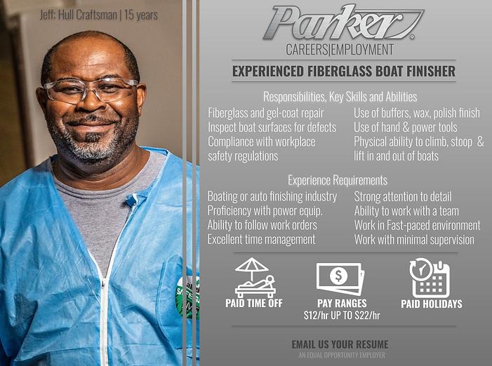Parker Boats Exper Fiberglass Finisher.p