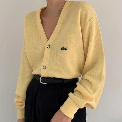 Vintage Lacoste Lemon Knit Cardigan
