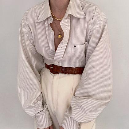 Vintage Tommy Hilfiger Neutral Striped Blouse