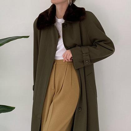 Favorite Vintage Olive Wool Overcoat
