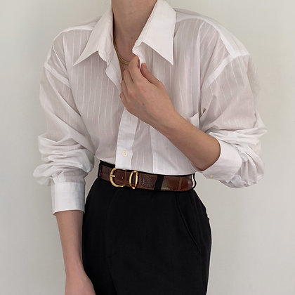 Vintage Dior Snow Striped Button Up Blouse