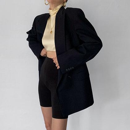 Vintage Christian Dior Midnight Pinstriped Blazer