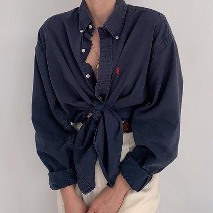 Vintage Ralph Lauren Navy Button Up