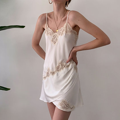 Vintage VS Ivory Lacy Slip Dress