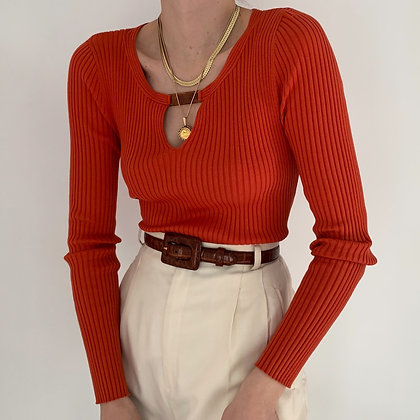 Vintage Sienna Silk Knit Tortoiseshell Top