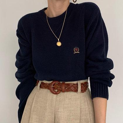 Vintage Tommy Hilfiger Navy Knit Pullover
