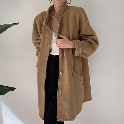 Vintage Camel Teddy Bear Coat