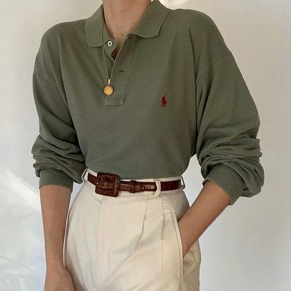 Vintage Ralph Lauren Sage Knit Polo