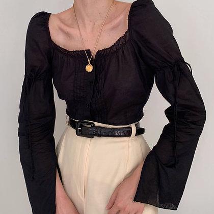 Vintage DKNY Noir Victorian Style Blouse