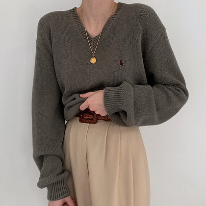 Vintage Ralph Lauren Shadow V-Neck Knit