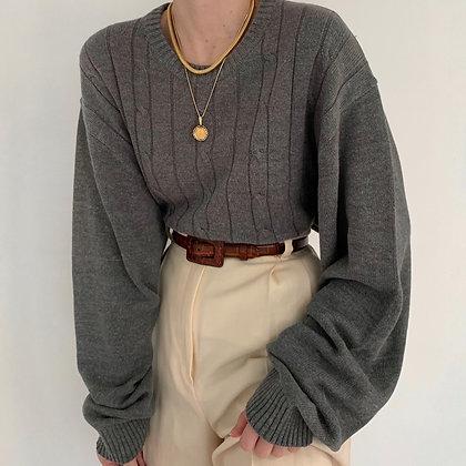 Deadstock Vintage Oscar de la Renta Stone Knit