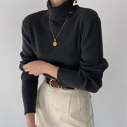 Vintage Ralph Lauren Charcoal Knit Turtleneck