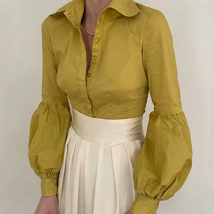 Vintage Bebe Chartreuse Blouse