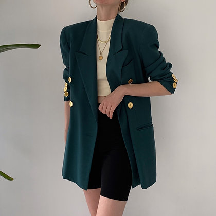 Vintage Dior Pine Double-Breasted Blazer