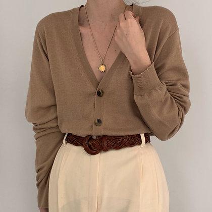 Vintage Izod Camel Knit Cardigan