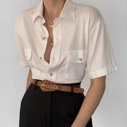 Vintage Dior Snow Knit Button Up Blouse
