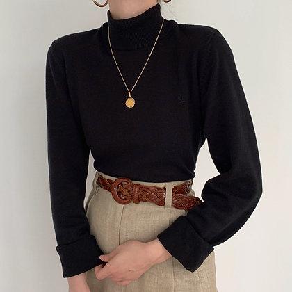 Vintage Ralph Lauren Onyx Mock Neck
