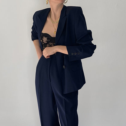 Vintage Midnight Double-Breasted Pantsuit (25W)