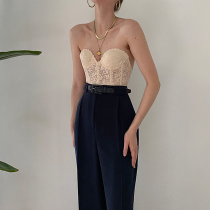 Deadstock Vintage Midnight Silk Trousers