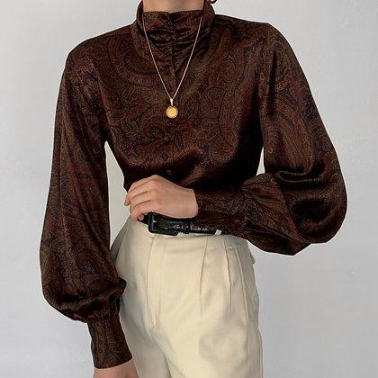 Deadstock Vintage Ralph Lauren Paisley Silk Blouse