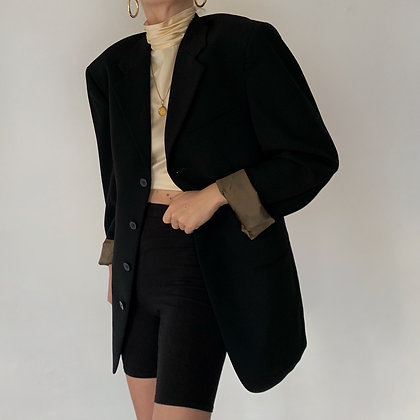 Vintage Givenchy Onyx Wool Blazer