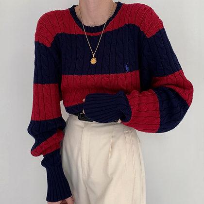 Vintage Ralph Lauren Striped Knit Sweater