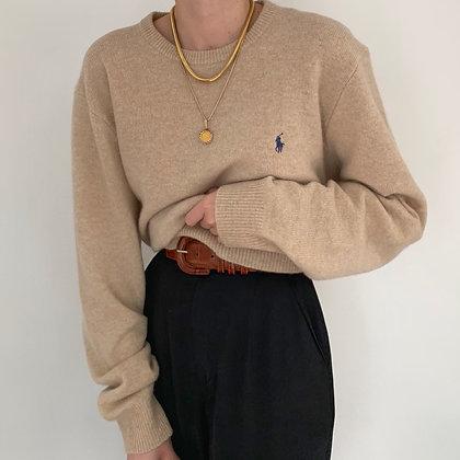Vintage Ralph Lauren Sand Wool Pullover