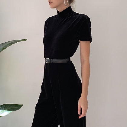 Favorite Vintage Black Velvet Jumpsuit