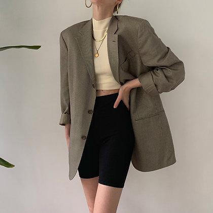 Vintage Oscar de la Renta Neutral Silk Blazer