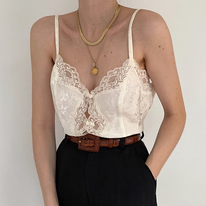 Deadstock Vintage Snow Lacy Camisole