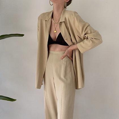 Minimalist Vintage Sand Silk Set