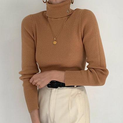 Vintage Ralph Lauren Camel Knit Turtleneck