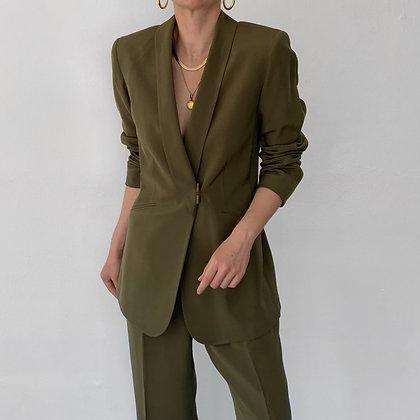 Favorite Vintage Olive Silk Pantsuit (26W)