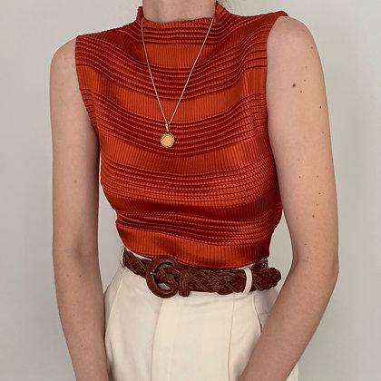 Vintage Sienna Textured High Neck Top