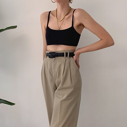 Vintage Fawn High-Waisted Trousers (28W)