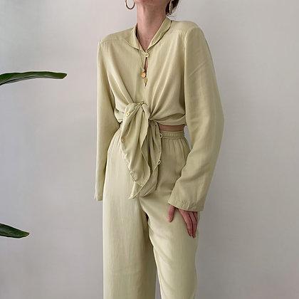 Favorite Vintage Lime Silk Set