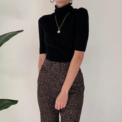 Vintage Leopard Print Corduroy Trousers (27W)