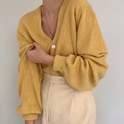 Vintage Mustard Knit Cardigan
