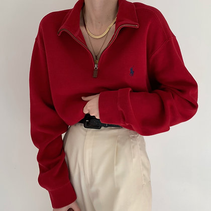 Vintage Ralph Lauren Crimson Half Zip