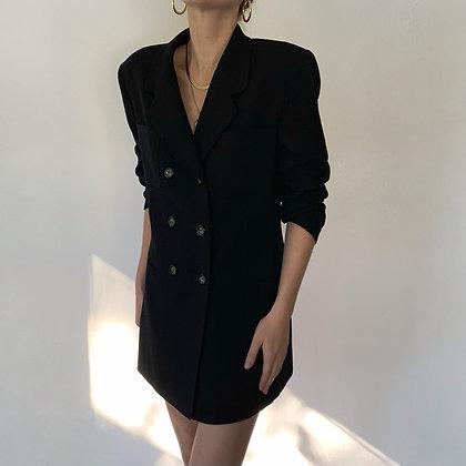 Vintage Midnight Wool Longline Blazer
