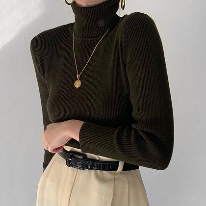 Vintage Ralph Lauren Olive Knit Turtleneck