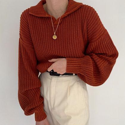 Vintage Sienna Collared Knit Sweater
