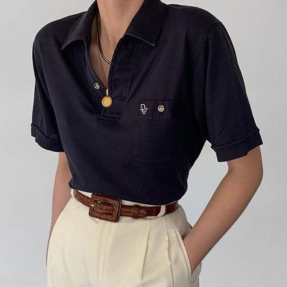 Vintage Christian Dior Midnight Knit Polo